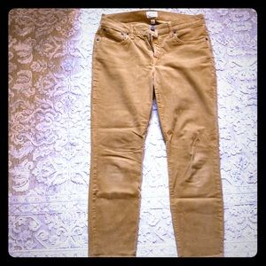 Toothpick courdoroy pants